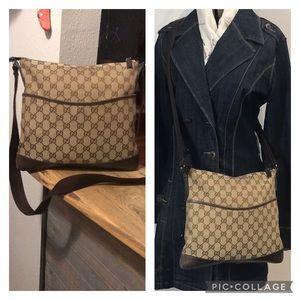 Authentic Gucci Monogram Vintage Crossbody Bag